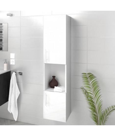 LUNA / LIMA Colonne de salle de bain L 25 cm - Blanc brillant