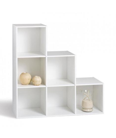COMPO Meuble en escalier contemporain blanc mat - L 93 cm
