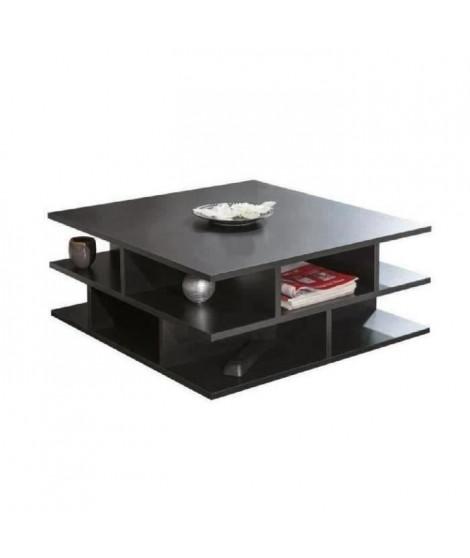 MAD Table basse multicases style contemporain noir - L 70 x l 70 cm