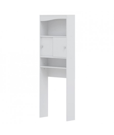 GALET Meuble WC ou machine a laver L 64 cm - Blanc mat