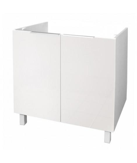 POP Meuble sous-évier L 80 cm - Blanc brillant