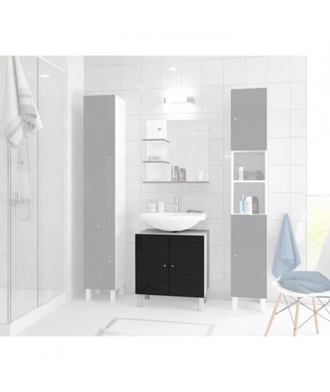 CORAIL Meuble sous-lavabo L 60 cm - Noir laqué