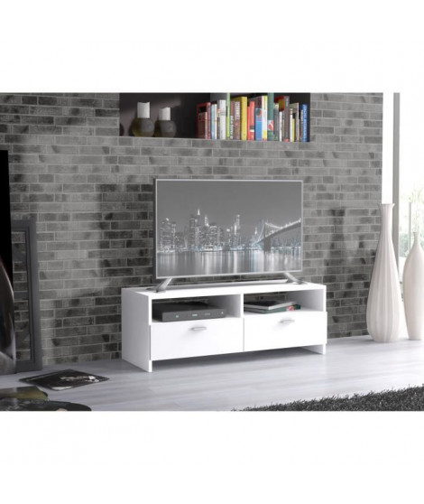 FINLANDEK Meuble TV HELPPO contemporain blanc - L 95 cm
