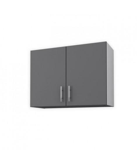 OBI Meuble haut de cuisine L 80 cm - Gris mat