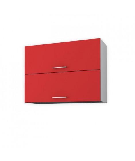 OBI Meuble haut de cuisine L 80 cm - Rouge mat