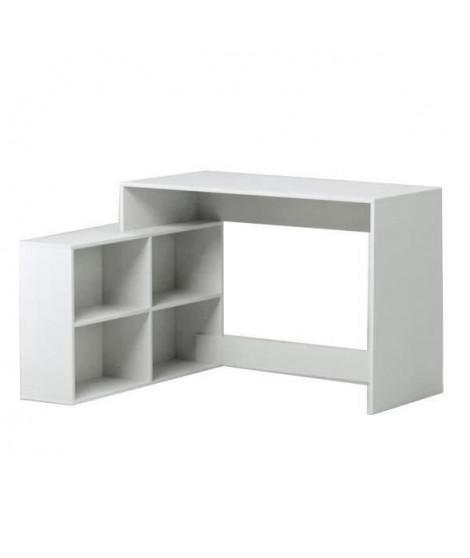 NAGANO Bureau d'angle contemporain blanc mat - L 111,9 cm