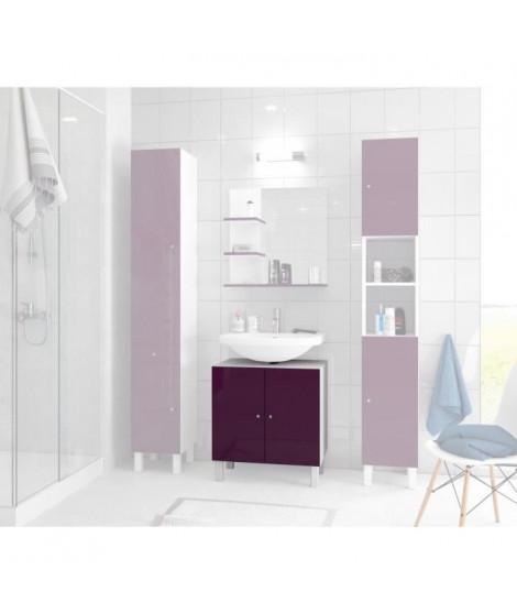 CORAIL Meuble sous-lavabo L 60 cm - Aubergine laqué
