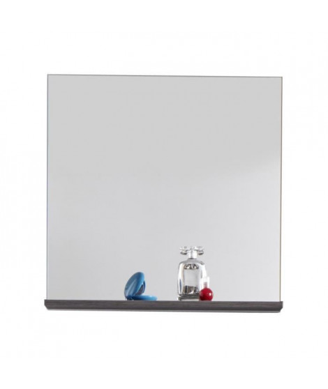 SAN DIEGO Miroir de salle de bain L 60 cm - Blanc mat et gris