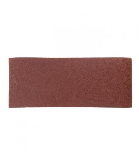 Lot de 6 rectangles abrasifs pour décaper - 93 x 230 mm - Gros grain 40