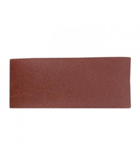 Lot de 6 rectangles abrasifs pour poncer - 93 x 230 mm - Grain moyen 80