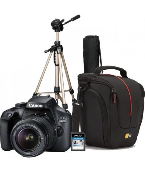 CANON EOS 4000D +  EF-S 18-55 I + SDHC 8Go + Sacoche pour Reflex + Trepied photo