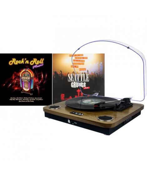Pack AKAI CS-TP09 Platine Tourne Disque + 2 Vinyles Offerts !!