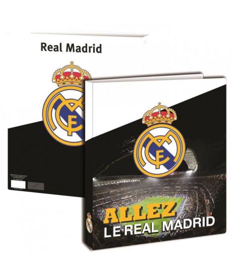 REAL MADRID Classeur A4 - Couverture souple en polypropylene - 4 anneaux métal - 26 x 32 cm