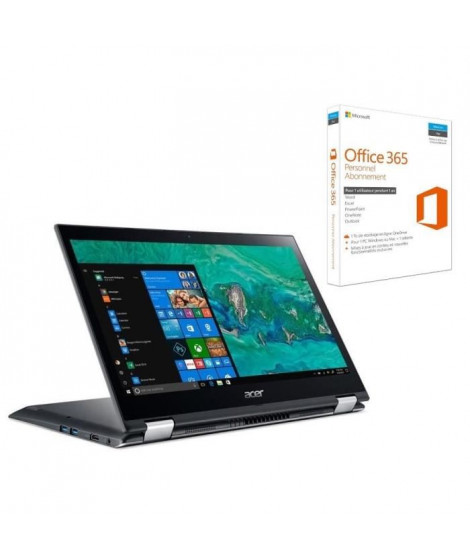 "ACER PC Portable Convertible Spin SP314-51-32TK 14"" FHD - RAM 4Go - i3-6006U - Stockage 256Go SSD - HD Graphics 520 + Office 365"