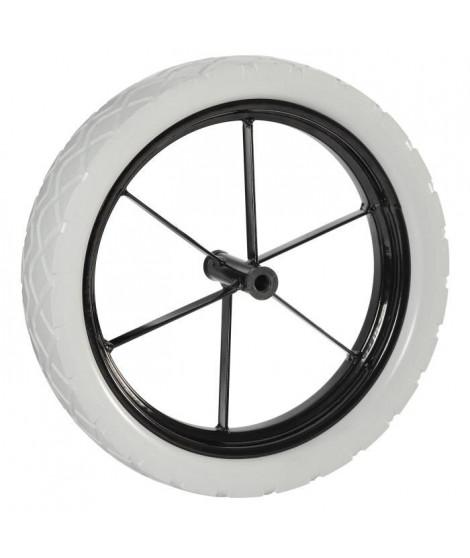 HAEMMERLIN Roue increvable pour brouette Racing PF69 - Ø 400 mm - Jante métal a rayons - Moyeu Ø 14 mm, L 101,5 mm
