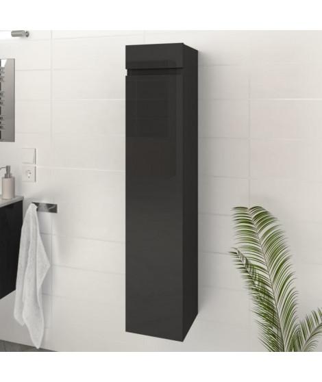 LUNA / LIMA Colonne de salle de bain L 25 cm - Gris brillant