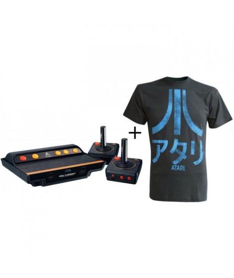 Pack Atari: Console Atari Flashback 8 Gold HD Activision Edition & 130 jeux inclus + T-shirt Atari: Logo Japonais - Antracite