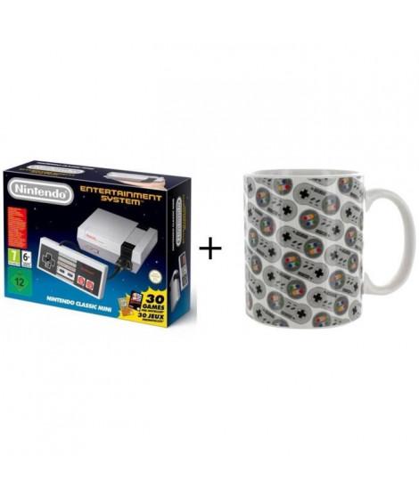 Pack Nintendo: Console Nintendo Classic Mini NES + Mug Nintendo: Manette Super Nes