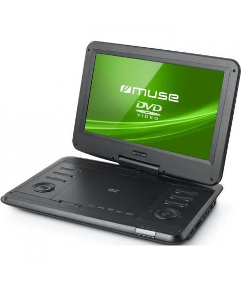 """MUSE M1270DP Lecteur DVD portable - Écran 11,6"""" pivotant a 180° et rabattable - Noir"""