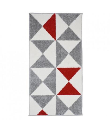 FORSA Tapis de couloir en polypropylene - 60 x 110 cm - Rouge