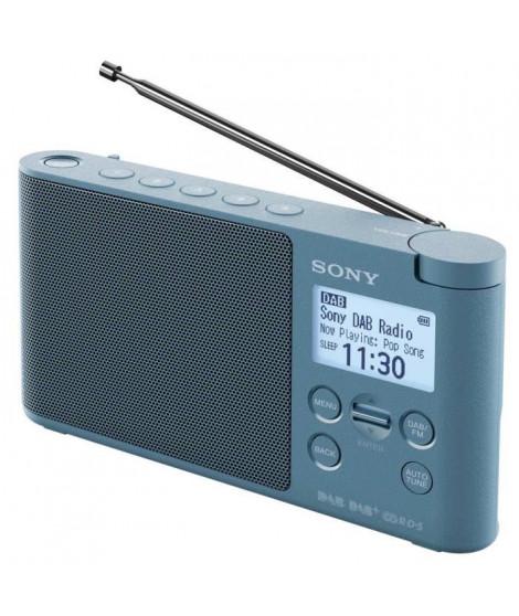SONY - Radio portable DAB/DAB+ - Préréglages directs - Réveil et mise en veille programmable - Bleu