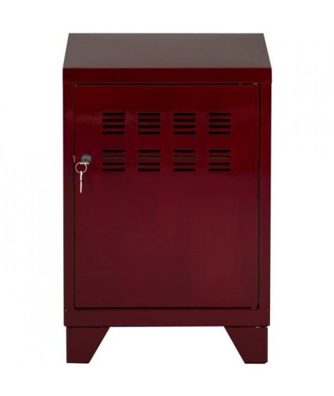 PIERRE HENRY Caisson de bureau CLASS industriel - Métal époxy verni rouge - L 46 x H 57 cm