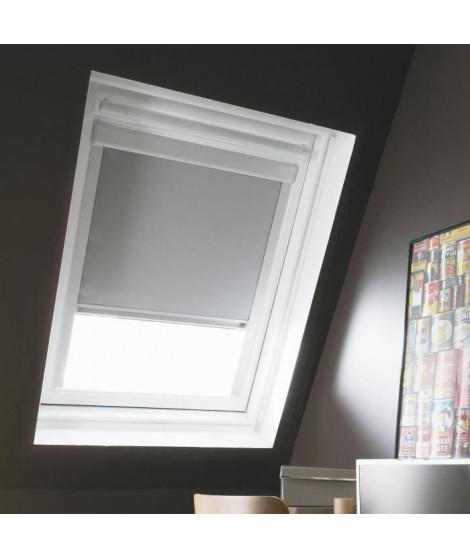 Store de fenetre de toit occultant VELUX C02/C04 - L.55 x H.98 cm, recoupable a 78 cm - Gris