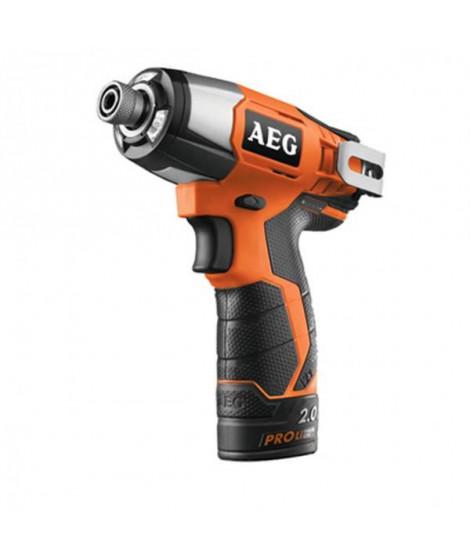 AEG Visseuse a choc BSS12C-202C - 12 V - 2 x 2 Ah Pro Lithium - 115 Nm
