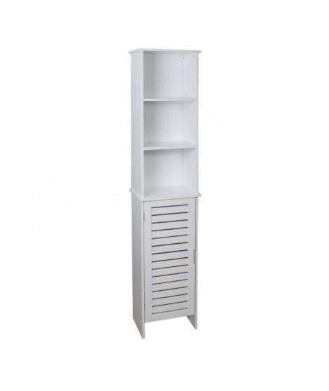 LINDA Colonne de salle de bain L 34 cm - Blanc mat