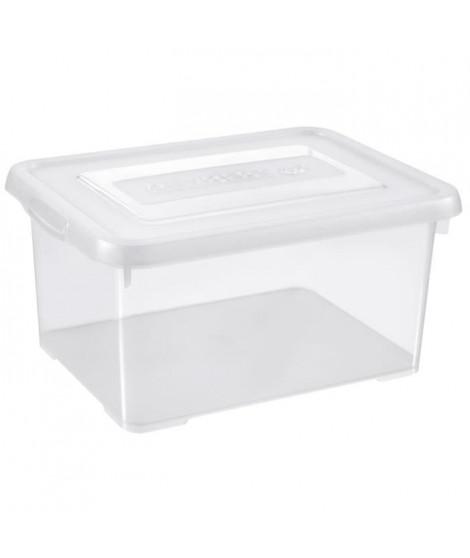 ALLIBERT Boîte de rangement Handy - Couvercle transparent - 15 L