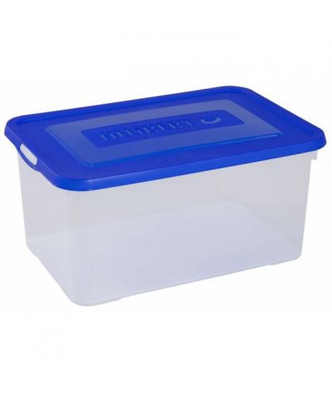 ALLIBERT Boîte de rangement Handy - Couvercle bleu - 50 L