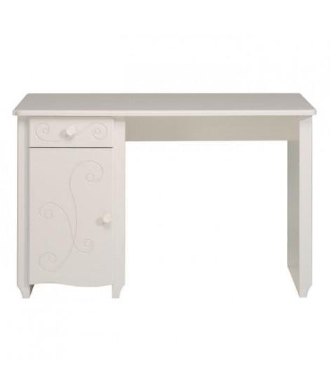 CHARME Bureau contemporain laqué blanc - L 120 cm