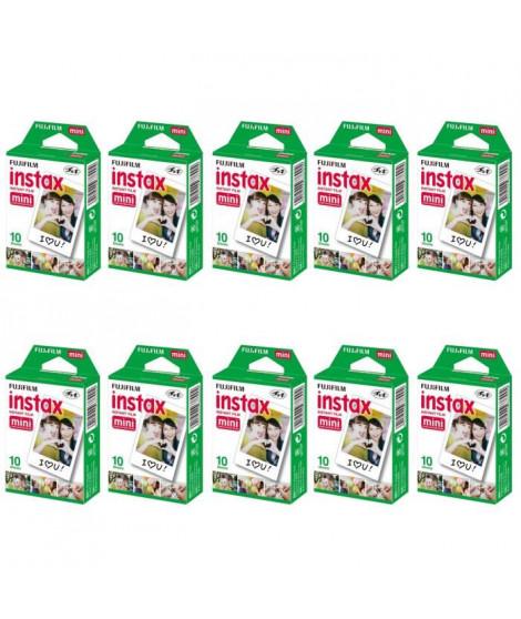 Fujifilm Instax Mini 10 X 10 Pellicules couleur a développement instantané instax mini ISO 800 10 poses