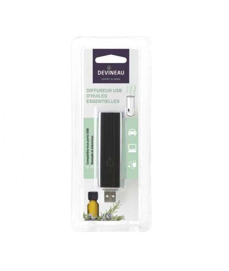 DEVINEAU Diffuseur d'huiles essentielles clé USB nomade - Noir