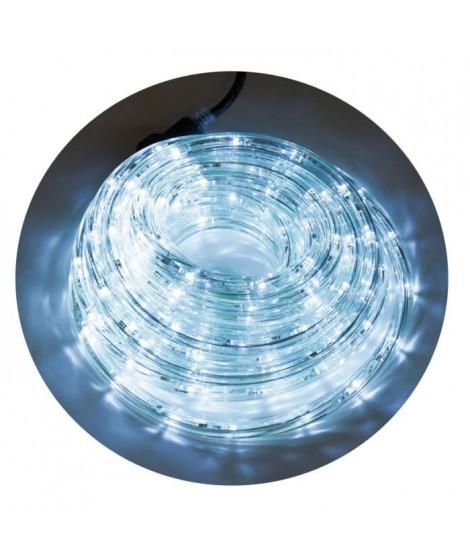 Tube lumineux extérieur - 192 LED blanc froid - 8 m - Connectable - 24 flashs crépitant