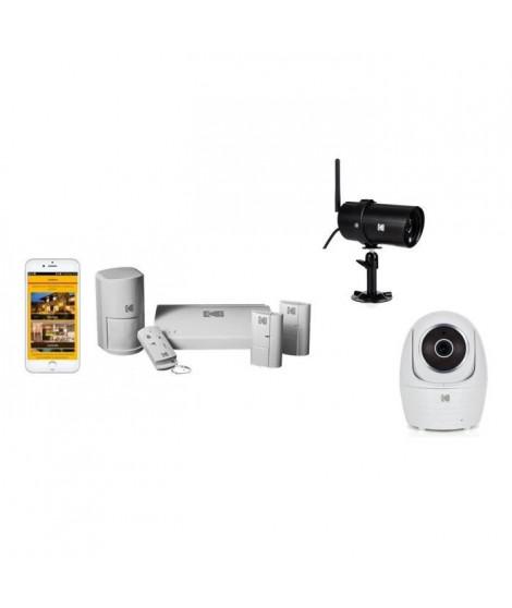 KODAK Pack Alarme SA101 + 2 Caméras Full HD