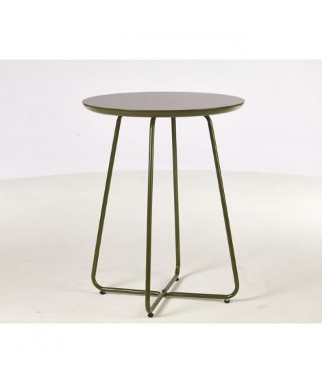 FELBOUR Table d'appoint style contemporain vert brillant avec pieds en métal - L 50 x l 50 cm