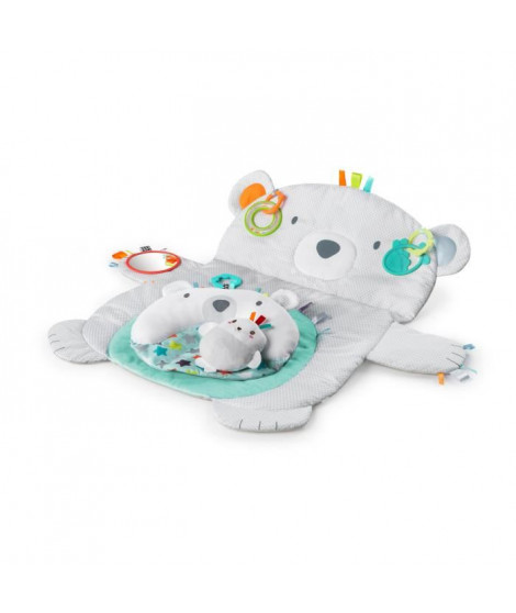 BRIGHT STARTS Tapis d'éveil Ours Polaire Tummy Time Prop & Play?