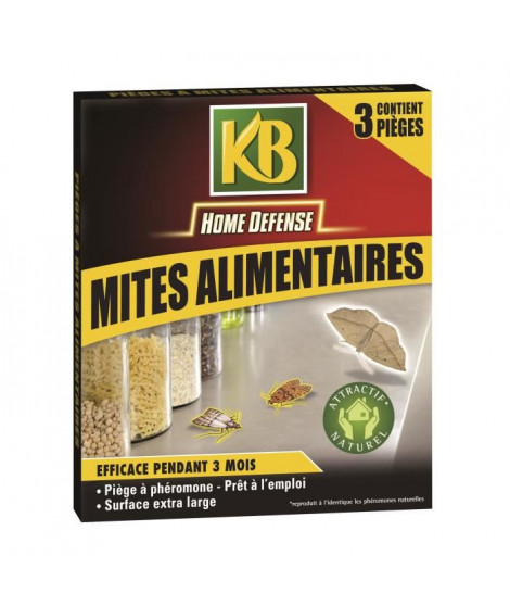 KB Lot de 3 pieges mites alimentaires