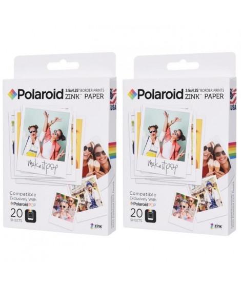 """Pack 2 POLAROID POLZL3X420 Papier photo 3""""x4"""" pour appareil photo Polaroid POP"""