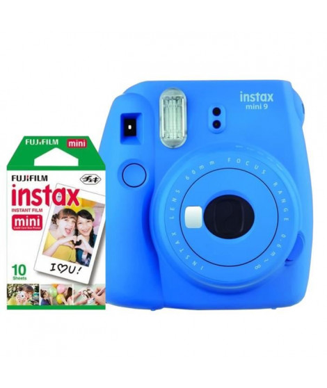 Fujifilm Instax Mini Bleu Cobalt + 10 Pellicules couleurs
