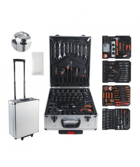 MANUPRO Valise aluminium multi outils 999 accessoires