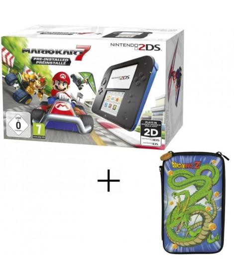 2DS + Super Mario Kart 7 + Housse 2DS Konix Dragon Ball Shenron