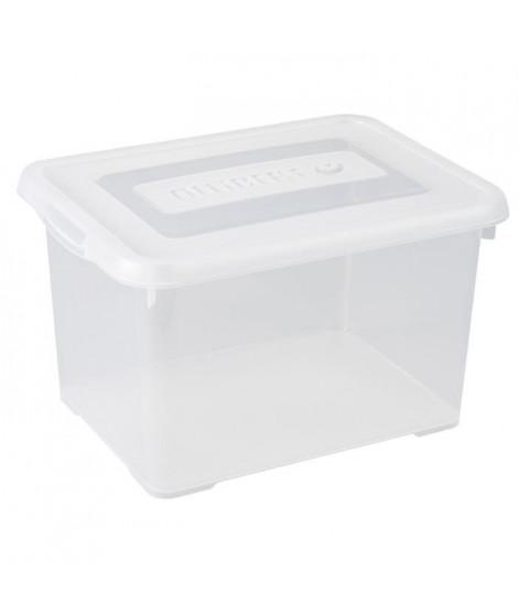 ALLIBERT Boîte de rangement Handy - Couvercle transparent - 35 L