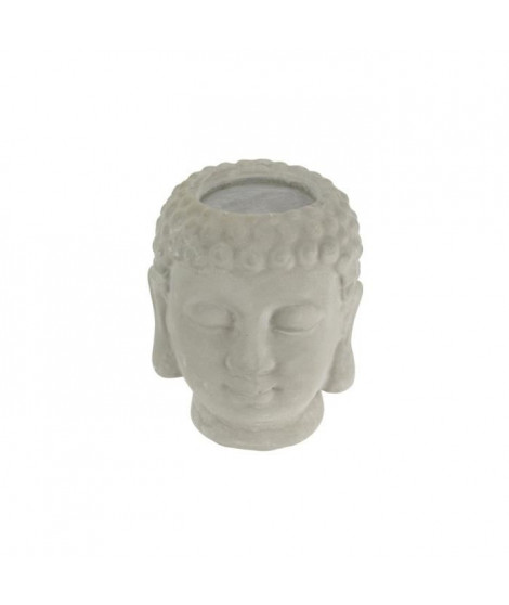 THE CANDLE FACTORY Photophore Buddha - 7,5 x 8 x 9,5 cm - Gris