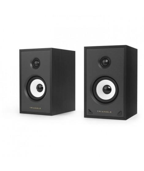 TRIANGLE SENSA SN01A Noir Mat -  Paire Enceintes actives - Bluetooth Aptx - Amplification 2 x 40 Watts