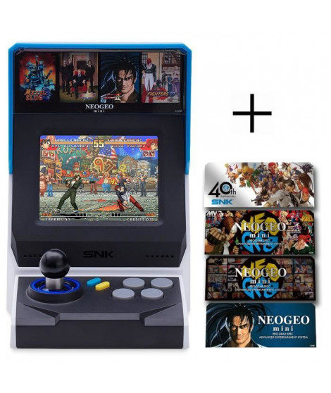 Console Neo Geo Mini + Stickers Personnages 4 pieces