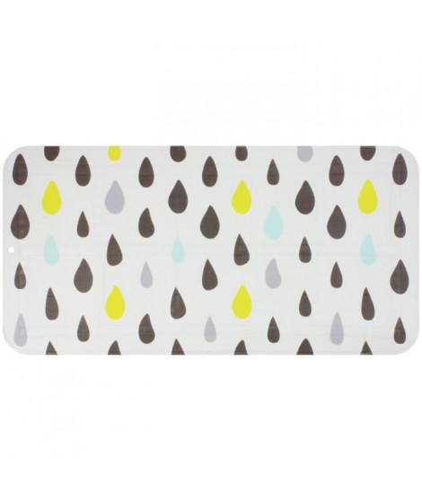 GELCO DESIGN Tapis antidérapant - 35x70 cm - Motif pluie - Multicolore