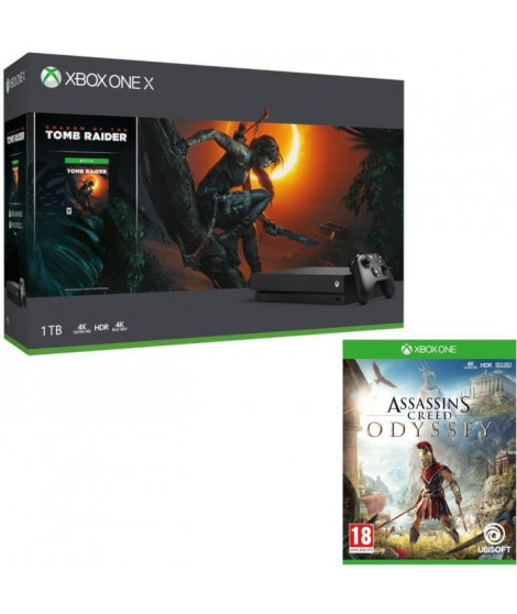 Xbox One X 1 To Shadow of The tomb Raider + Assassin's Creed Odyssey