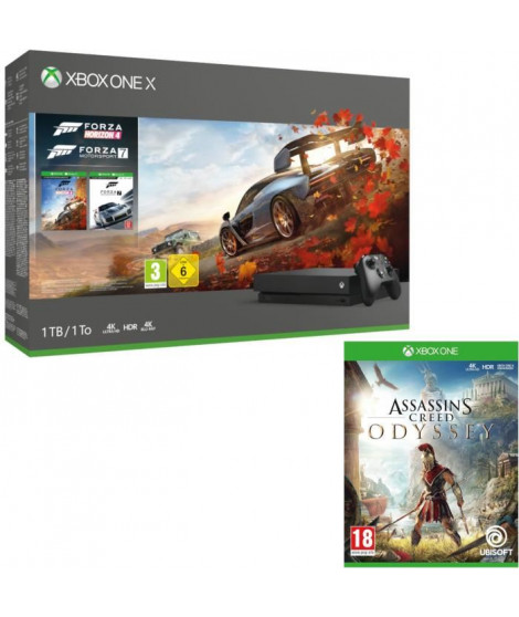 Xbox One X 1 To Forza Horizon 4 + Forza Motorsport 7 + Assassin's Creed Odyssey